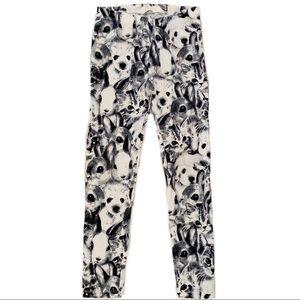H&M Kids Black and White Animal Print Leggings
